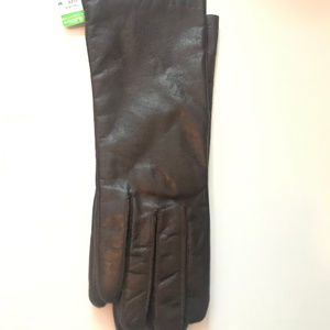 Browm Leather Gloves M NWT Dead Stock Lined